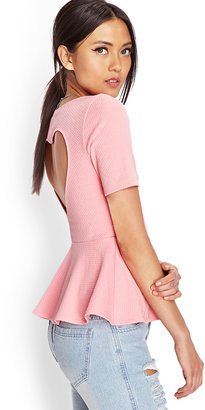 Forever 21 Refined Textured Peplum Top