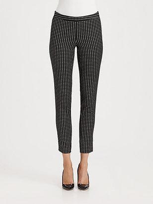 Moschino Cheap & Chic Moschino Cheap And Chic Polka Dot Jacquard Cropped Pants