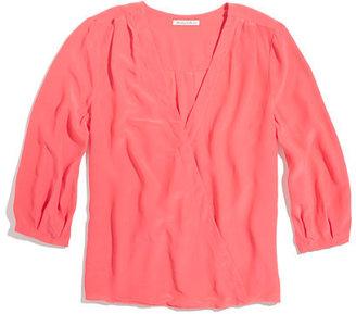 Madewell Silk v-neck blouse