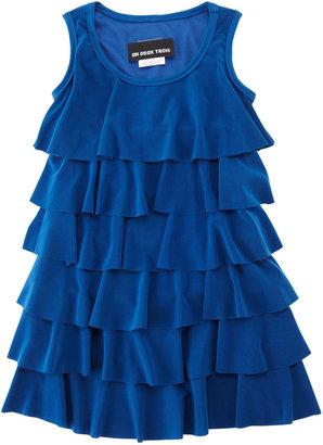 Un Deux Trois Tier Dress, Cobalt, 7-14Y