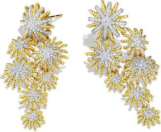 David Yurman Starburst Cluster Earrings with Diamonds in Gold