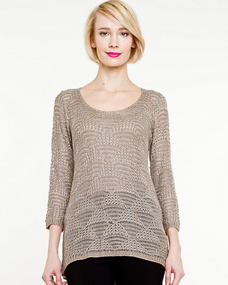 Le Château Open-Stitch Relaxed Sweater