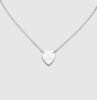 Gucci Necklace With Trademark Engraved Heart Pendant