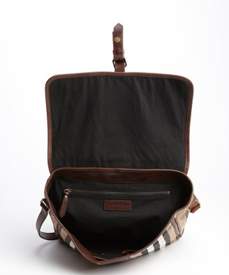 Burberry canvas and leather vintage house check 'Salford' crossbody