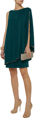 Mikael Aghal Studded satin-jersey dress