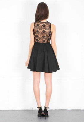 Keepsake Need Your Love Lace Dress in Black -