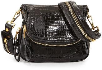 Tom Ford Jennifer Mini Alligator Crossbody Bag, Black