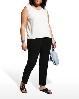 Caroline Rose Stretch-Knit Slim Pants