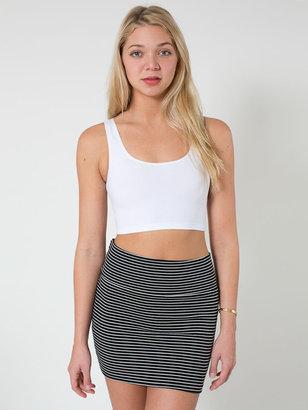 American Apparel Stripe Interlock Mini Skirt