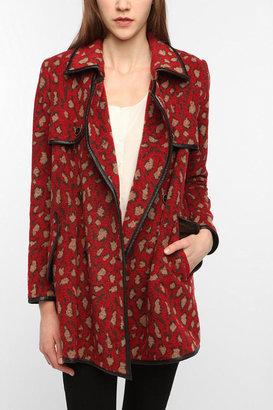 Dolce Vita Red Leopard-Print Coat