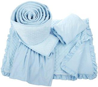 American Baby Company ABC Heavenly Soft 4 pc Minky Dot Crib Set - Blue