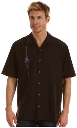 Tommy Bahama Stack The Deco Camp Shirt (Black) - Apparel
