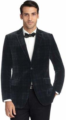 Brooks Brothers Fitzgerald Fit Velvet Blackwatch Tuxedo Jacket