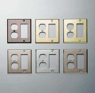 Restoration Hardware Metal Single Socket and Rocker Plate Combo