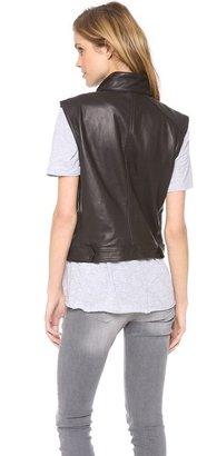 Rag and Bone Leather Moto Vest