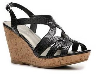 Kelly & Katie Cara Snake Wedge Sandal
