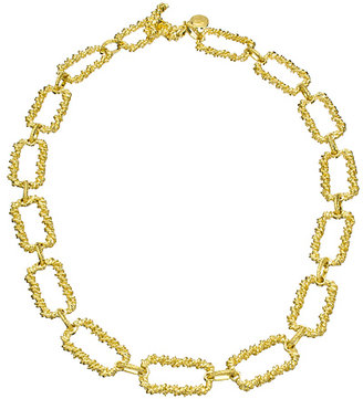 Harrison Morgan Gold Square Links Necklace