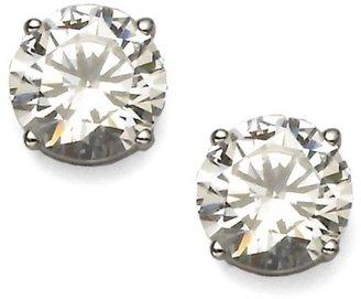 Adriana Orsini Brilliant-Cut Sterling Silver Stud Earrings