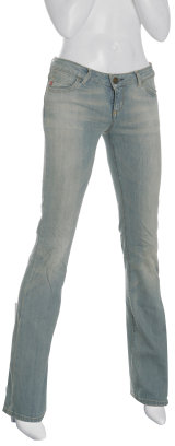 Miss Sixty light wash 'Extra Low Ty' stretch bootcut jeans