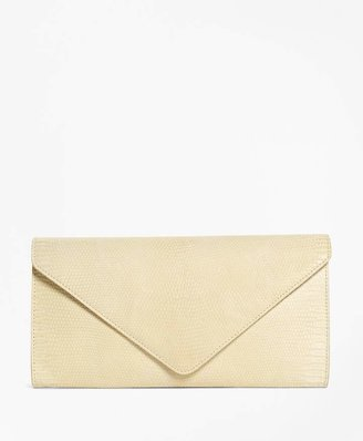 Brooks Brothers Lizard Snap Front Clutch