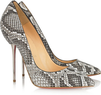 Christian Louboutin Lipsinka 120 pin-heeled python pumps