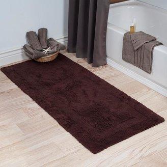 Trademark Global Lavish Home 100% Cotton Reversible Long Bath Rug - 24
