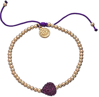 Blee Inara Gold and Crystal Heart Beaded Bracelet