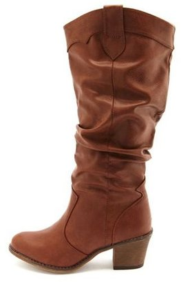 Charlotte Russe Classic Slouchy Cowboy Boot