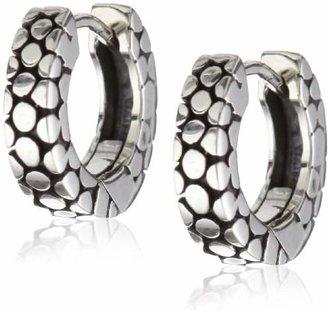 Zina Sterling Stingray-Texture Hoop Earrings
