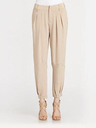 Haute Hippie Pleated Silk Pants