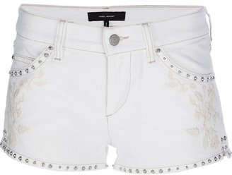 Isabel Marant studded denim shorts
