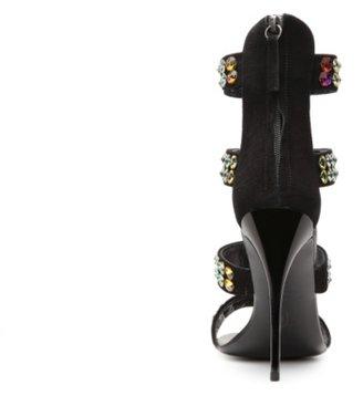 Giuseppe Zanotti Suede Embellished Strappy Sandal