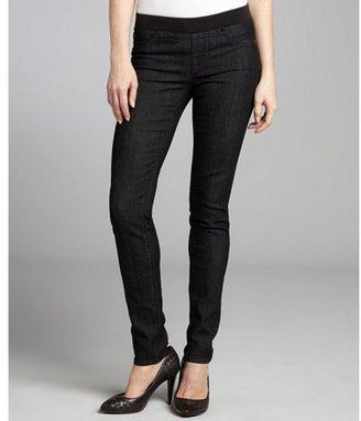AG Adriano Goldschmied darkest blue stretch denim banded waist skinny jeans