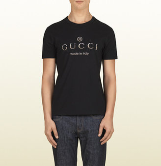 Gucci Black Crew Neck T-Shirt With Logo