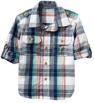 Gap Madras convertible shirt
