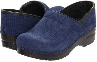 Dansko Professional Textured Nubuck (Blue) - Footwear