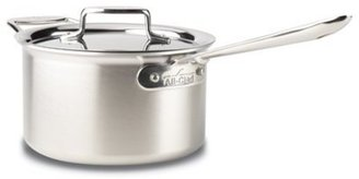 All-Clad 4-qt. Stainless Steel D5 Brushed Sauce Pan with Lid