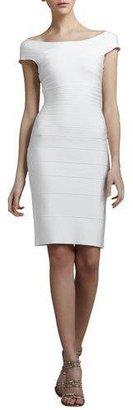 Herve Leger Cap-Sleeve Bandage Dress