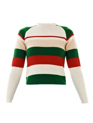 J.W.Anderson Striped crew-neck knit sweater