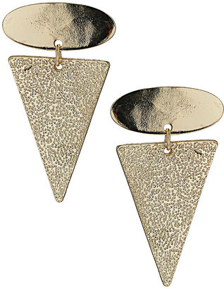 Topshop Oval and Arrow Drop Earrings