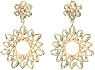 Amrita Singh Austrian Crystal Sunburst Earrings, Aquamarine