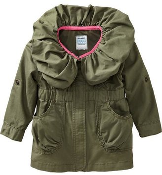 Old Navy Shirred-Collar Twill Jackets for Baby