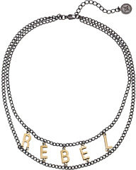 "BCBGeneration In the Shadows Two-Tone Rebel 16"" Necklace"