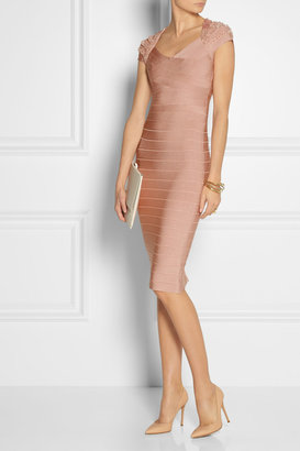 Beaded bandage dress