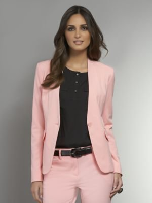 New York & Co. The Crosby Street Double Stretch Collarless Jacket