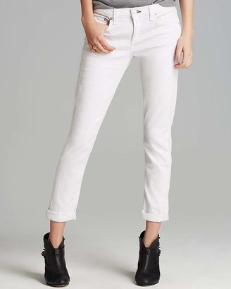 rag & bone/JEAN The Dre Slim Boyfriend Jeans in Aged Bright White $187 thestylecure.com