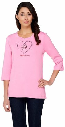 Factory Quacker Sweet Love Cupcake 3/4 Sleeve T-shirt
