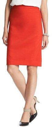 LOFT Clean Cotton Blend Pencil Skirt