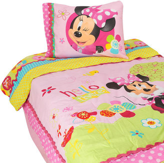 Jay Franco & Sons Inc Disney Minnie Mouse Bow-Tique Twin Comforter Set