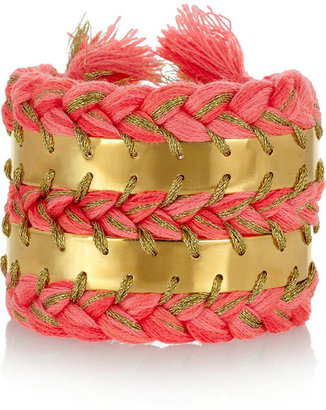 Aurelie Bidermann Copacabana gold-plated and cotton cuff